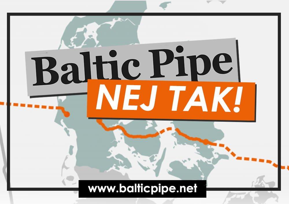 Pressemeddelelse Baltic Pipe nej tak Logo