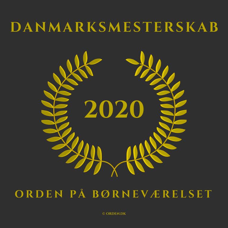 PRESSEMEDDELELSE Positiv COVID 19 historie med Danmarksmesterskab 2020 ORDEN paa boernevaerelset