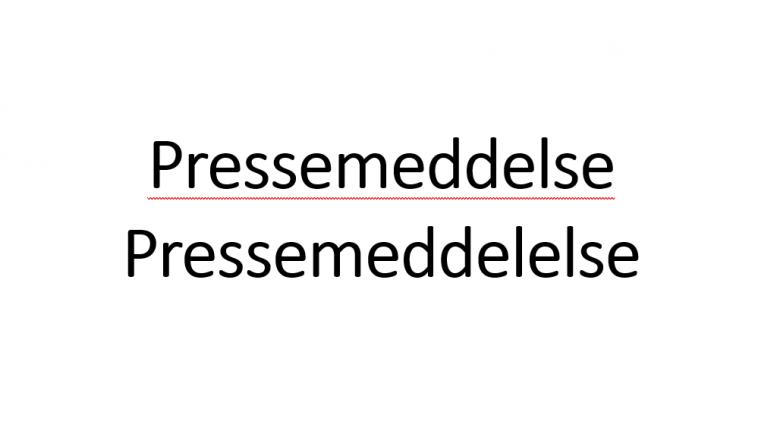 Pressemeddelse staves ofte forkert Nyheder Pressemeddelelse