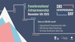 PRESSEMEDDELELSE Discover the theme of Transformational Entrepreneurship at CBS Entrepreneurial Day