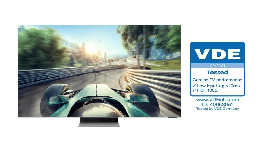 PRESSEMEDDELELSE Samsung Neo QLED faar branchens foerste Gaming TV Performance certificering
